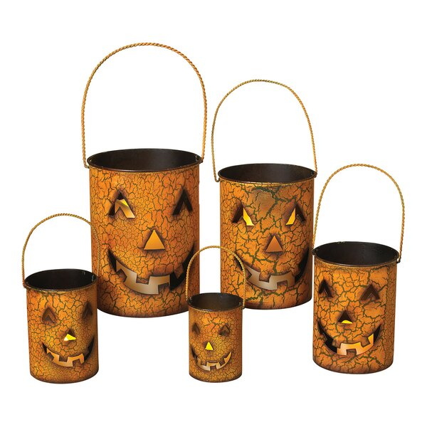 5 Piece Pumpkin 5 Light Luminary Set by Gerson International