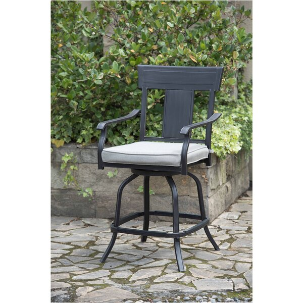 Beeson Patio Dining Chair with Cushion (Set of 2) by Williston Forge
