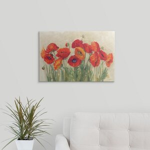 Virant Poppies by Carol Rowan Painting Print on Wrapped Canvas by Great Big Canvas