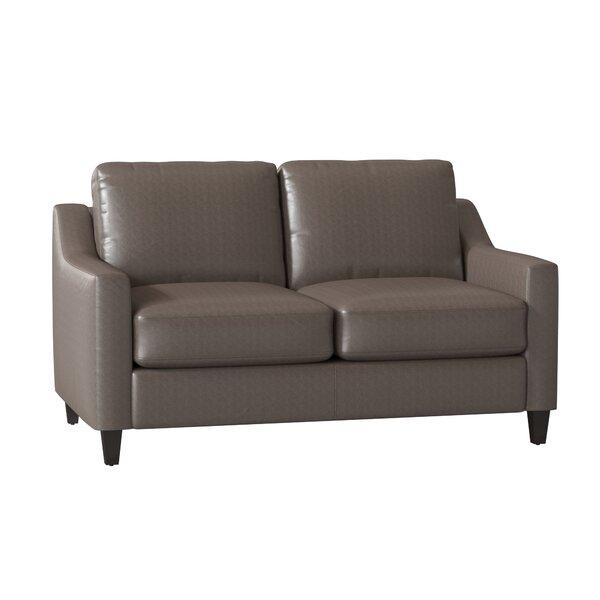 Jesper Leather Loveseat By Wayfair Custom Upholstery™