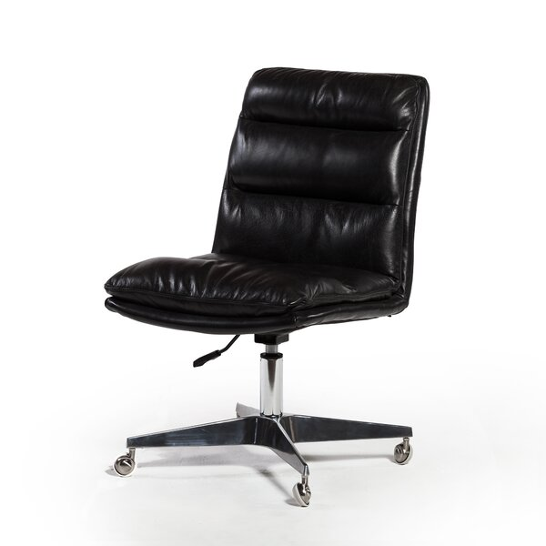 Souders Genuine Leather Office Chair by Brayden Studio