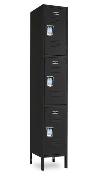 3 Tier 1 Wide Locker by Jorgenson Lockers