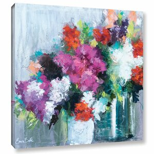 'Flowers Market' Painting Print on Wrapped Canvas by Willa Arlo Interiors
