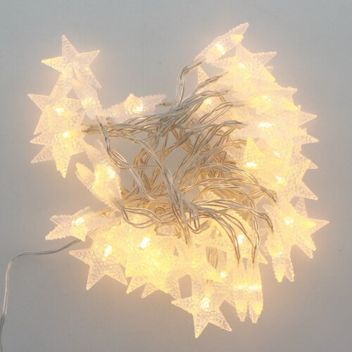 LED Crystal Star 40 Light String Lights by The Holiday Aisle