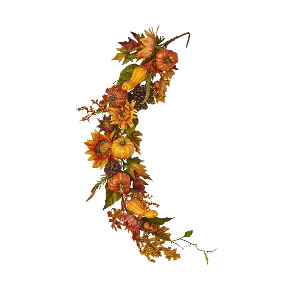 Sunflower Pumpkin Garland by The Holiday Aisle