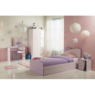 denault twin platform configurable bedroom set - Pink Bedroom Set