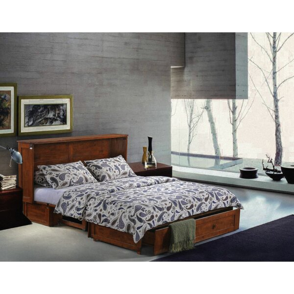 Planas Queen Storage Murphy Bed with Mattress by Loon Peak