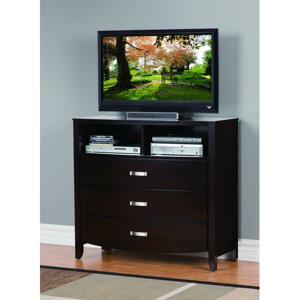 Laurelwood 3 Drawer Media Chest by Latitude Run
