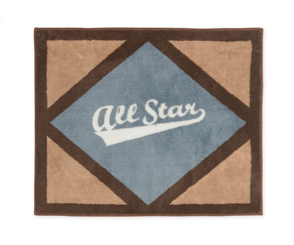 All Star Sports Floor Brown/Gray Area Rug by Sweet Jojo Designs
