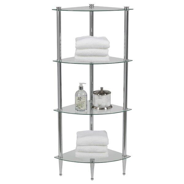 Sciortino 14 W x 42 H x 14 D Metal Free-Standing Bathroom Shelves