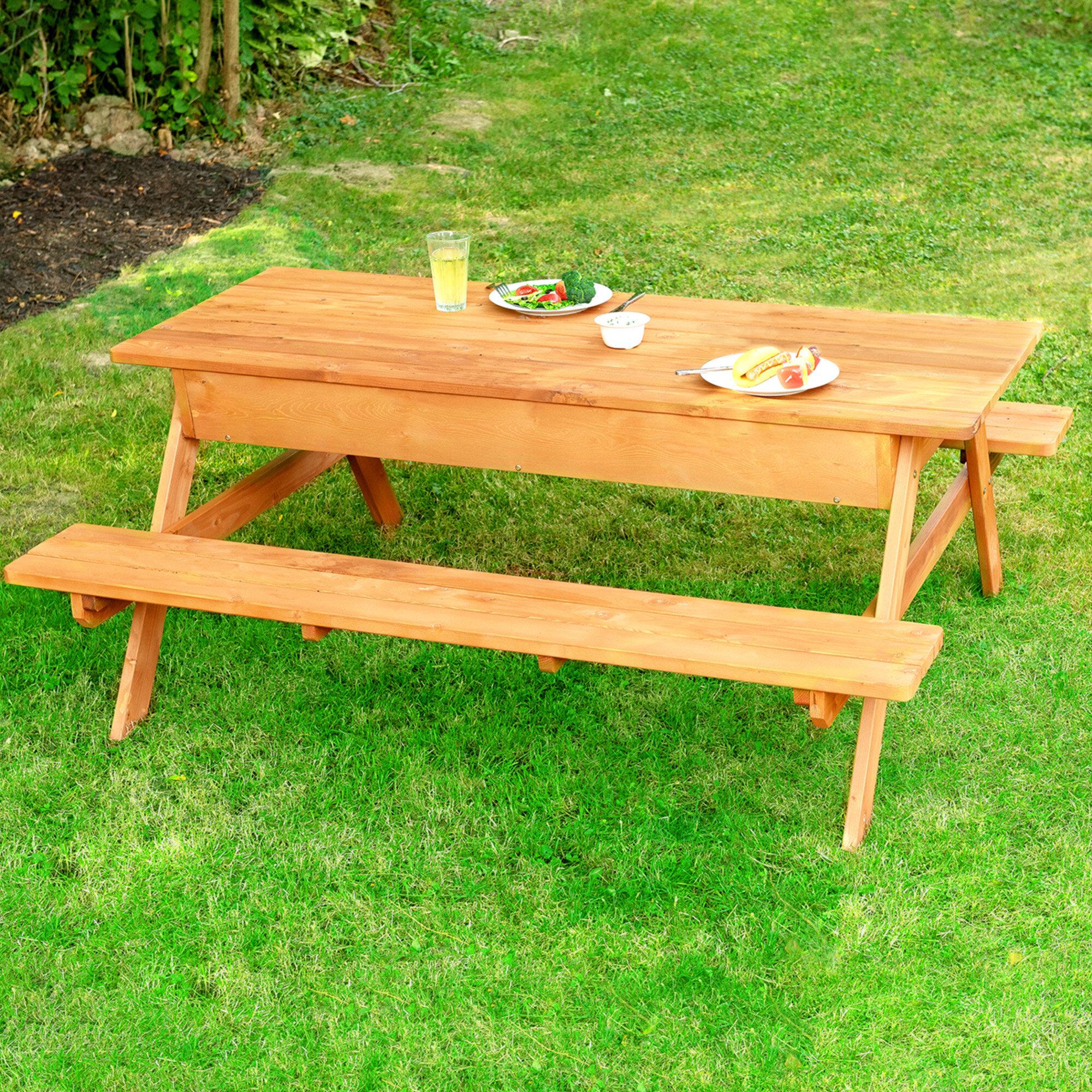 Cedar Wooden Picnic Table