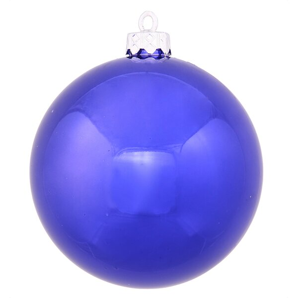 Shiny Ball UV Drilled Cap Ornament by The Holiday Aisle
