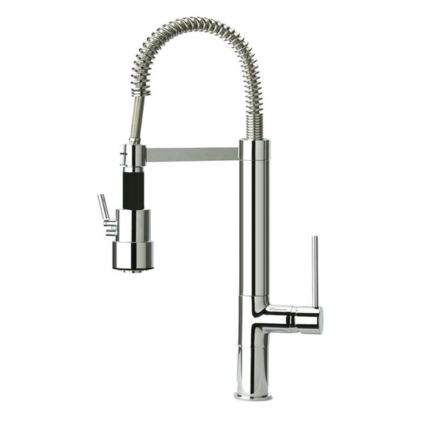Pull Out Single Handle Kitchen Faucet by Just Manufacturing