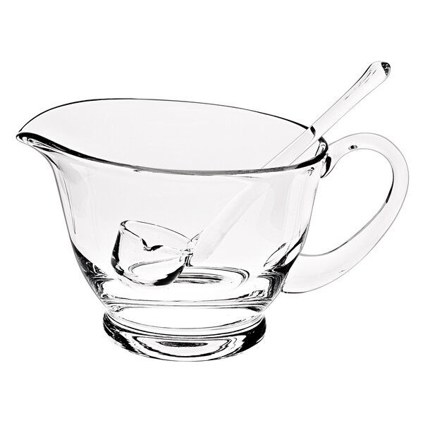 Gravy Boat with Ladle by Badash Crystal