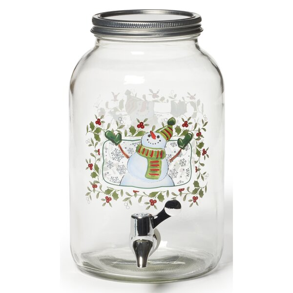 Winterberry Snowman Beverage Jar by Pfaltzgraff
