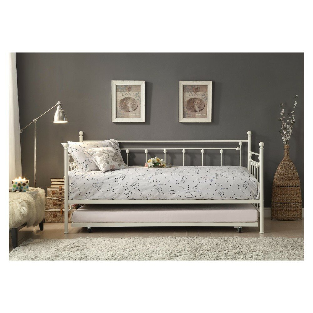 August Grove Zimmerman Metal Daybed With Trundle Wayfair