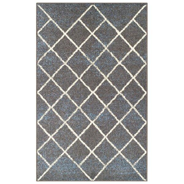 Verity Lattice Slate Area Rug by Wrought Studio