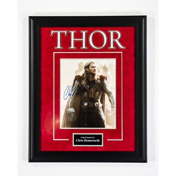 Thor Framed Autographed  Photograph by LuxeWest