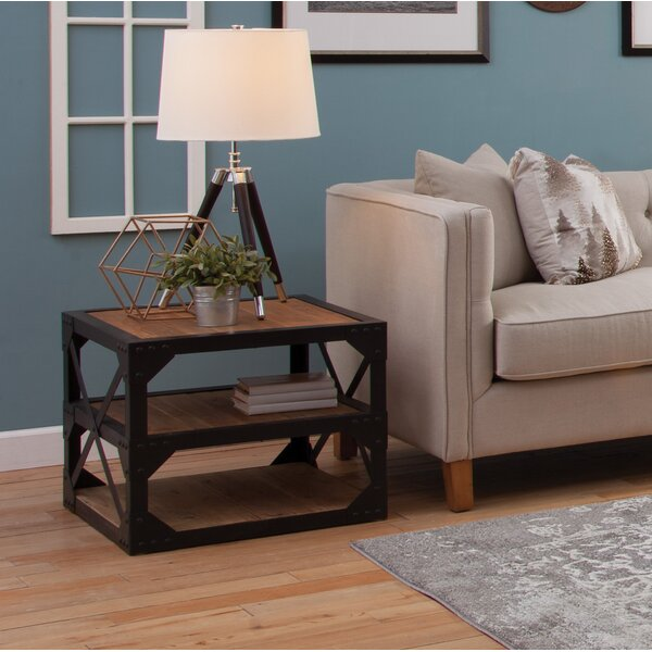 Eli End Table with Storage by 17 Stories