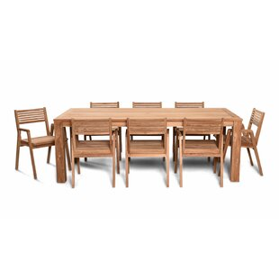 Hoff 9 Piece Teak Dining Set By Rosecliff Heights