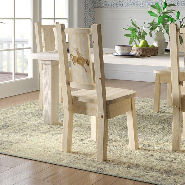 Abella Slat Back Solid Wood Dining Chair by Loon Peak