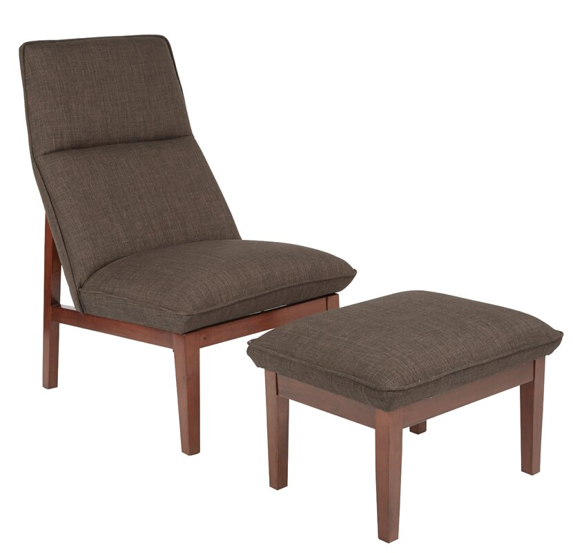 Popular Cameron Lounge Chair And Ottoman By Ave Six