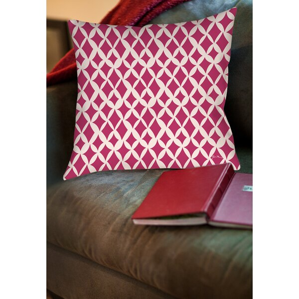 Banias Diamond Printed Throw Pillow by Manual Woodworkers & Weavers