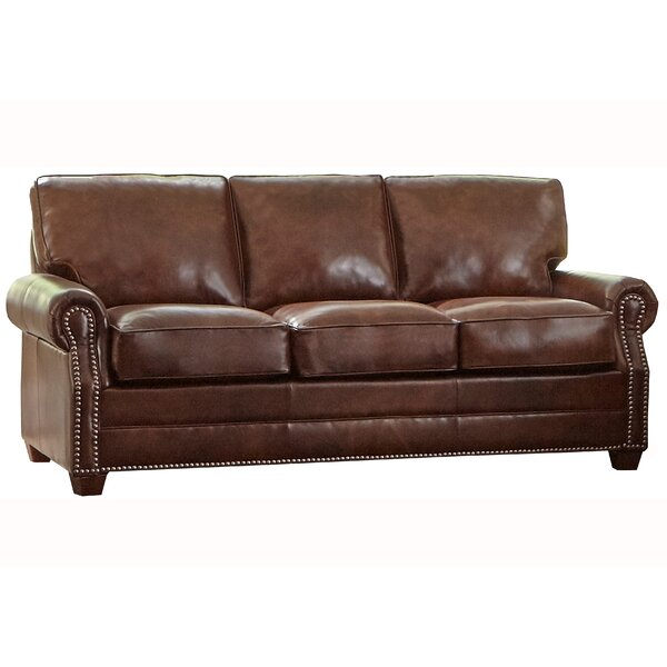 Home & Outdoor Lyndsey Leather Sofa Bed
