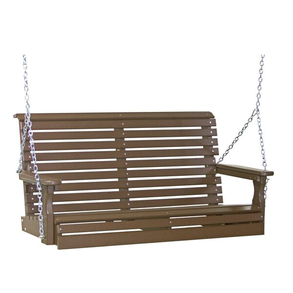Deuxville Plain Porch Swing by Ebern Designs