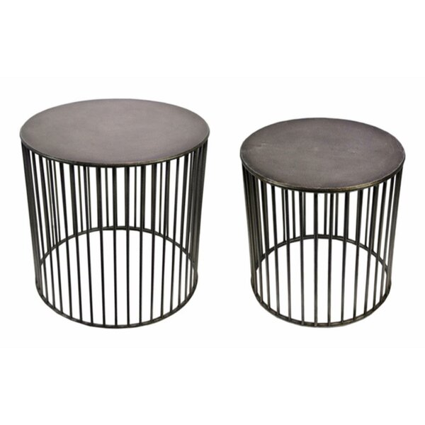 Leddy Vertigo 2 Piece Nesting Tables by 17 Stories