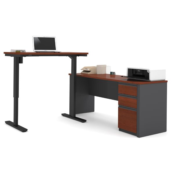 new styles 4a98c 1b45d Kenworthy Reversible L-Shape Standing Desk With Height Adjustable Table By  Ebern Designs