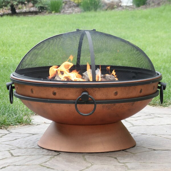 Neoma Royal Cauldron Steel Wood Burning Fire Pit by Charlton Home
