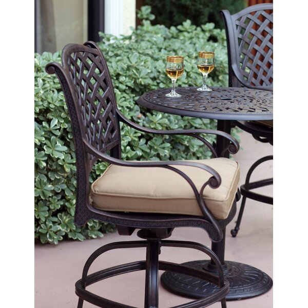 Lincolnville 30-inch Patio Bar Stool With Cushion By Fleur De Lis Living