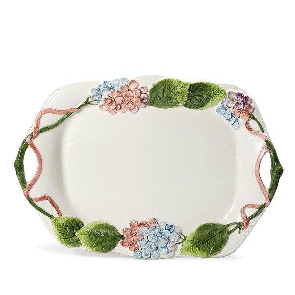 Fiorella Hortensia Platter by Intrada Italy