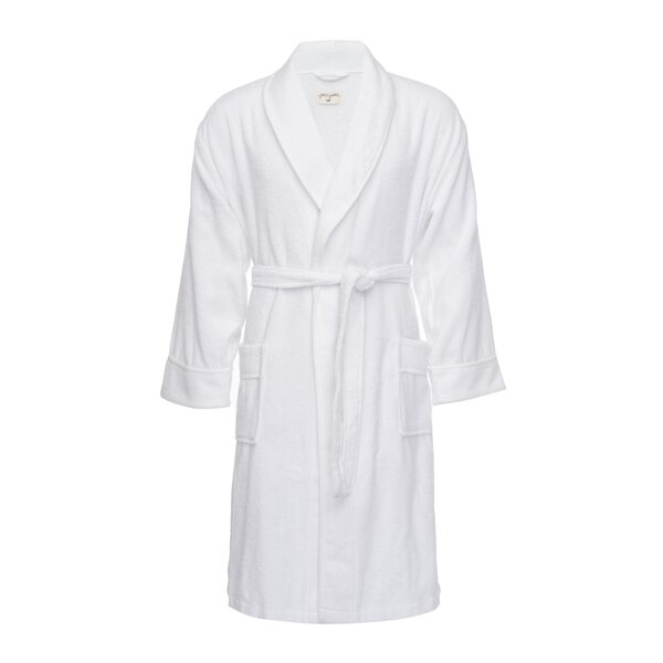 Kensington Male Cotton Blend Plush Bathrobe by Pure Fiber