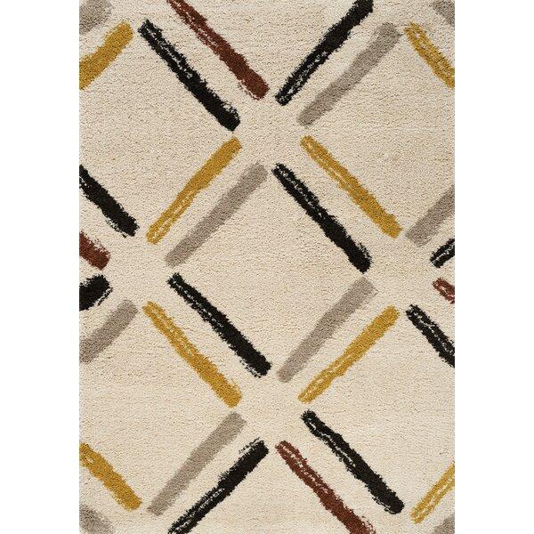 Delgadillo Tiles Soft Touch Cream Area Rug by Brayden Studio