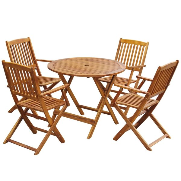 Spellman Outdoor 5 Piece Dining Set By Highland Dunes