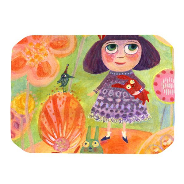 Flowerland Placemat by KESS InHouse
