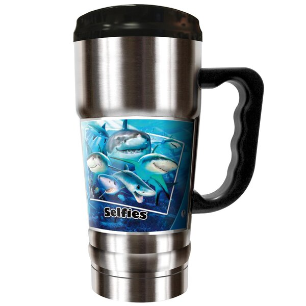 Shark Selfies 20 oz. Stainless Steel Travel Tumbler by Great American Products