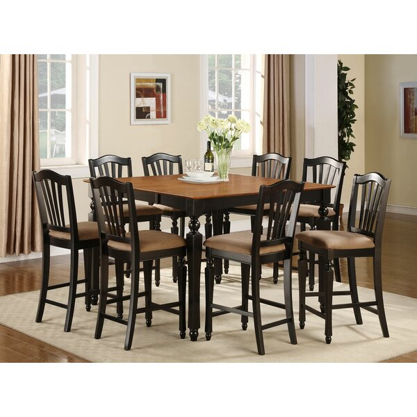 Ashworth 9 Piece Counter Height Pub Table Set by Darby Home Co Darby Home Co