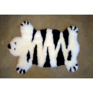 Designer Bear Animal Ivory Area Rug