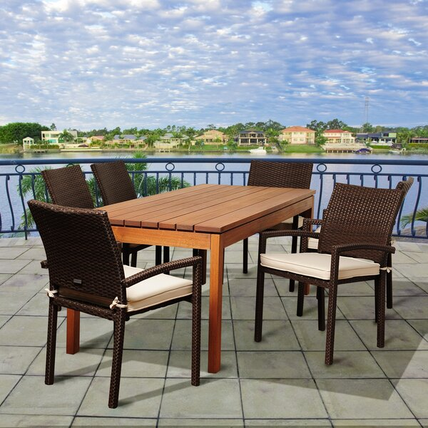 Fargo International Home Outdoor 7 Piece Dining Set with Cushions by Bayou Breeze