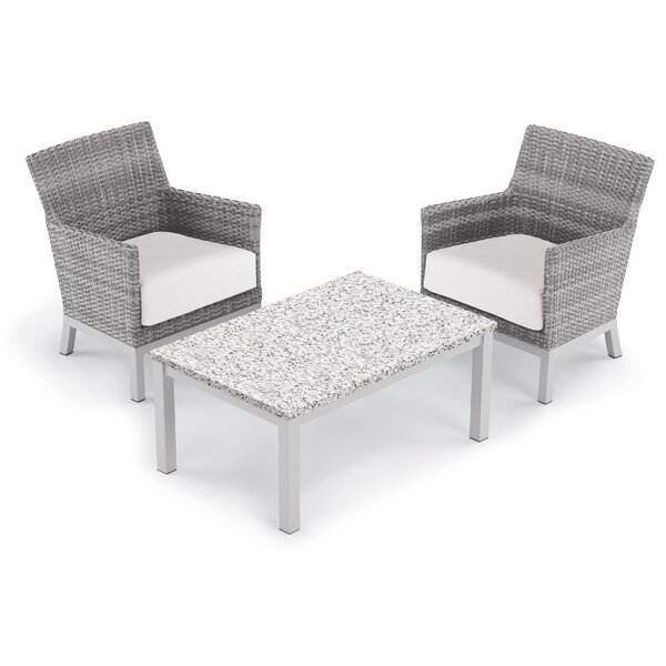 Saint-Pierre 3 Piece Club Rattan Conversation Set with Cushions by Brayden Studio