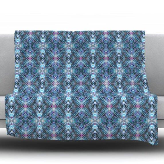 Native Pattern by Danii Pollehn Fleece Throw Blanket by East Urban Home