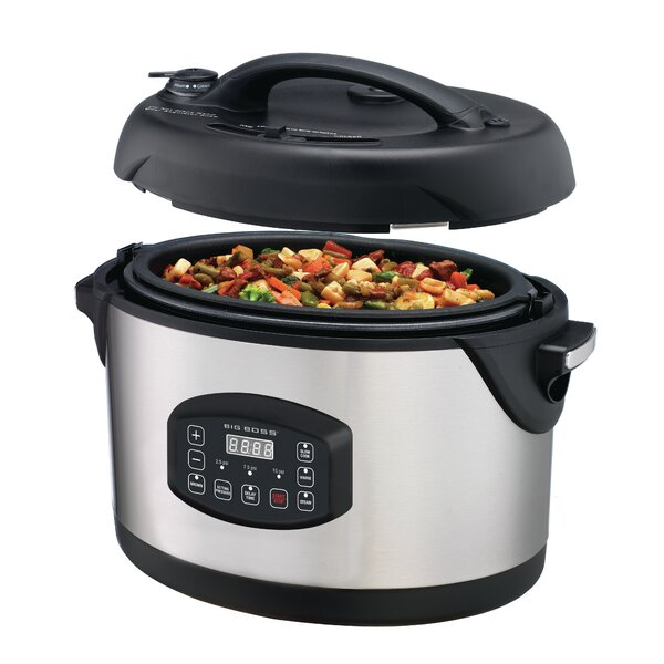 8.5 Qt. Stainless Steel Oval Pressure Cooker by Big Boss