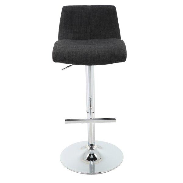 Bearce Adjustable Height Swivel Bar Stool by Wrought Studio Wrought Studio