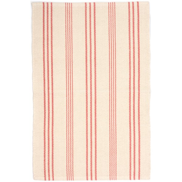 Hand Woven Pink/White Area Rug by Dash and Albert Rugs