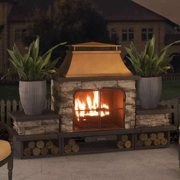 Connan Steel Wood Burning Outdoor Fireplace by Sunjoy