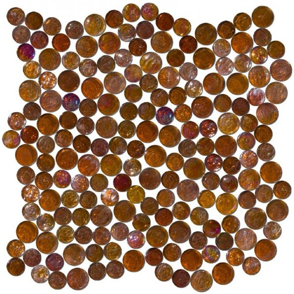 0.75 x 0.75 Glass Mosaic Tile in High-Gloss Brown by Susan Jablon