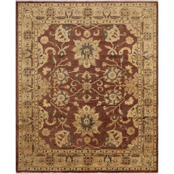 One-of-a-Kind Romona Hand Knotted Wool Chocolate Area Rug by Isabelline